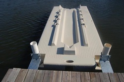 Dock Accessories, FLoating Dock accessories, New Jersey floating dock accessories, dock slides, dock benches, dock furniture